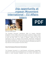 01 Internship in Brussels
