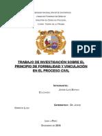 Principio de Formalidad en El Proceso Civil - Teoria de La Prueba