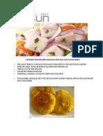 Ceviche de Pescado Blanco Del Dia Con Patacones