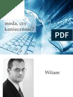 """Prezentacja do webinara """"Web 2.0... moda, czy konieczność?"""""""