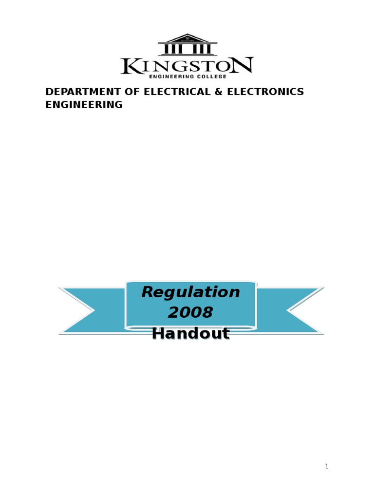 Regulation 2008 Handbook Eee Updated Newdoc Crystal Structure Circuits 8085 Projects Blog Archive Power Factor Meter Circuit Electrical Engineering