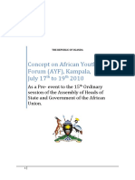 AYF - Concept Paper for the 1st AYF Meeting due in Entebbe, Uganda]