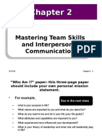 2 Ch02 Mastering Team Skills and Interpersonal Communication.ppt