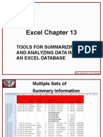 Excel 2010 Chap13 PowerPoint Slides for Class