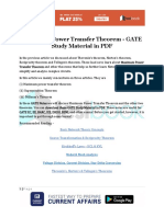 Maximum Power Transfer Theorem - GATE Study Material in PDF