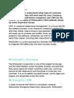 McDonalds CRM Case Study