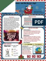 Santa's Newsletter Last Week b4 Winter Break 2016