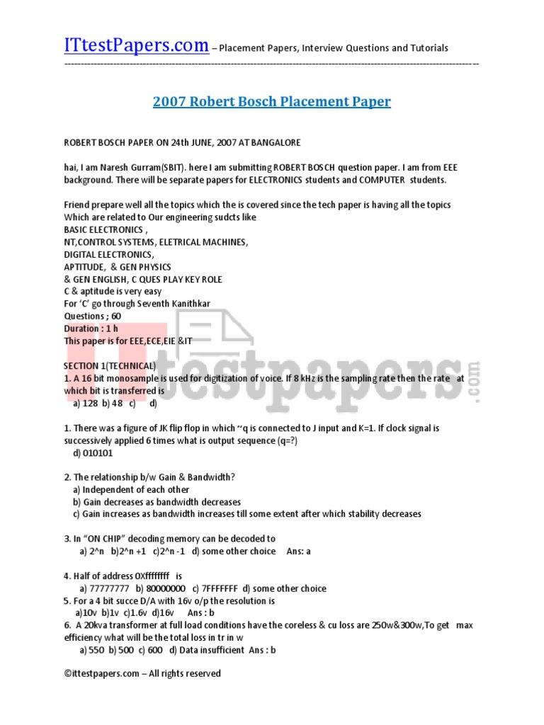 Basic Electronics Aptitude Questions - Circuit Diagram Images