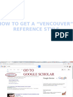 How to Get Vencouver Reference Style