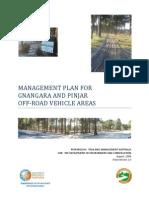 Management Plan for Gnangara and Pinjar Off-road Vehicle