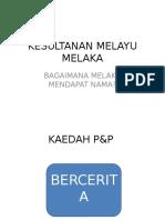 Kesultanan Melayu Melaka (2)