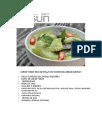 Curry Verde Thai de Pollo Con Cuenco de Arroz Basmati