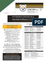 Pittsburgh Steelers At Cincinnati Bengals (Dec. 18)