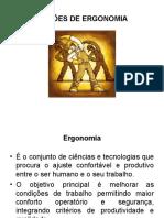 Palestra de Noções de Ergonomia