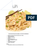 Pad Thai –de Gambas –de Pollo –de Tofu