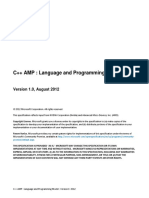 Cpp Amp Language and Programming Model