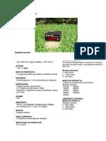 Características Técnicas Amperimetro y Voltimetro