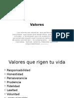 valores presentacion