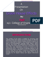 PPT Green House Effects PDF