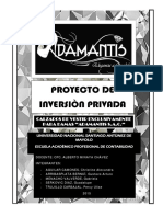 Proyecto de Inversion Privada Adamantis