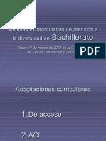Medidas extraordinarias de atención a la diversidad en Bachillerato