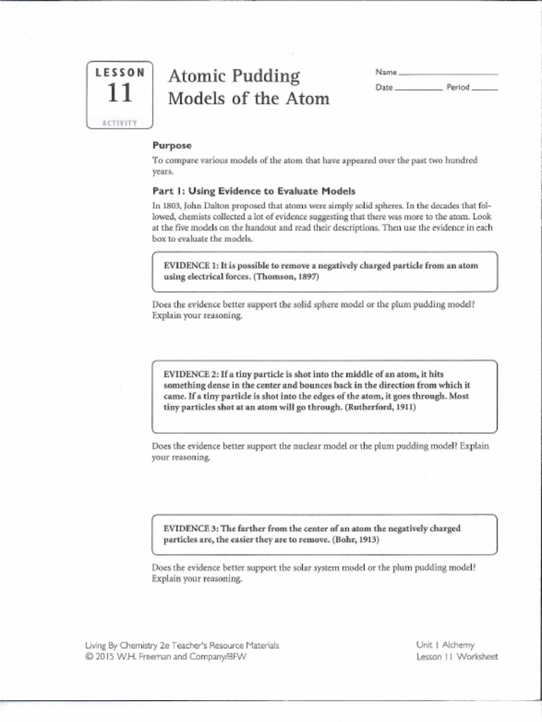 Lesson 11 activity atomic pudding models of an atom urtaz Image collections
