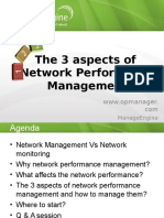 The 3 Aspects of Network Performance Management
