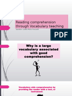 Reading Comprehension Through Vocabulary Teaching