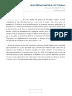 Informe de MODULO DE FINURA