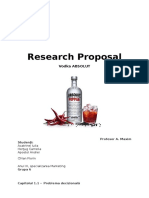 Absolut - Research Proposal