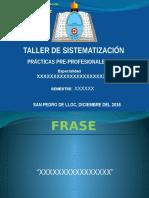 Diapositivas Taller de Sistematizacion 2016