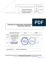 Protocolos Derivacion,Seguimiento y Rescate de Pacientes Criticos Actualizado Agosto 2011 VERSION 01