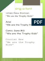 Choosing a font