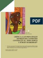 John Alexis Rengifo Carpintero - Crítica a Las Principales Teorías Del Consenso Contractual, John Rawls y Jürgen Habermas (1)