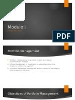Module I - Market Efficiency