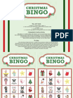 Game Christmas Bingo Color