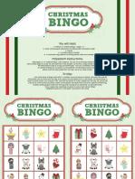 Game Christmas Bingo Color