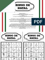 Bingo de Natal - Preto e Branco