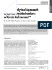A New Analytical Approach to Reveal theMechanisms of Grain Refinement**
