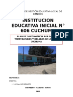 PLAN DE CONTINGENCIA  para instituciones educativas