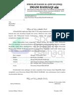Surat Undangan peresmian masjid