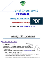 Hyoscine Assay Lecture-3a