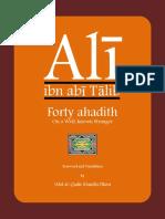 Forty Ahadith on 'Ali
