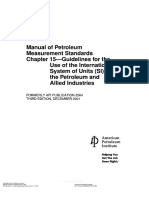 API MPMS 15 Guidelines for the Use of the International System of Units (SI) in the Petroleum and Allied Industries