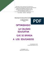 P.E.I.C. 2015 - 2016. Guayabal.