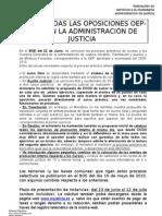 Hoja Informativa Convocatoria Oposiciones, 22-6-2010