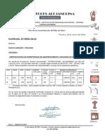 Certificado Operatividad
