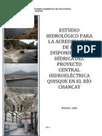 Estudio Hidrologico Proyecto Central Hidroelectrica Quisque