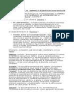 Clausula Adicional Al Contrato de Mandato Sin Representación