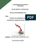 Deber 1 - Crisis EEUU 2008